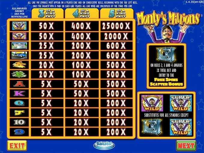 Play Monty's Millions at Casumo casino