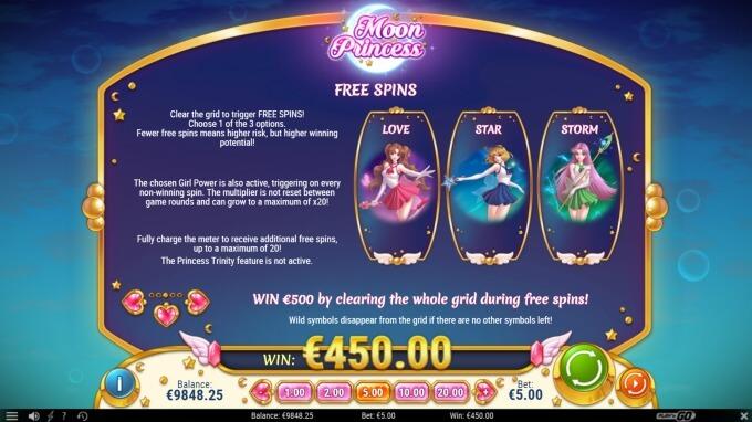 Play Moon Princess slot at Betsafe casino soon