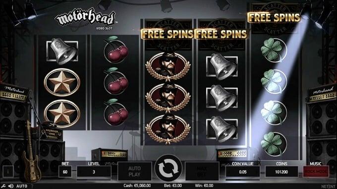 Play Motörhead slot at Dunder casino