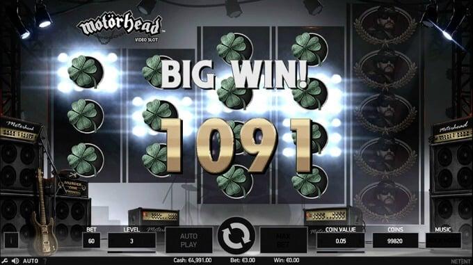 Play Motörhead slot at Mr Green casino