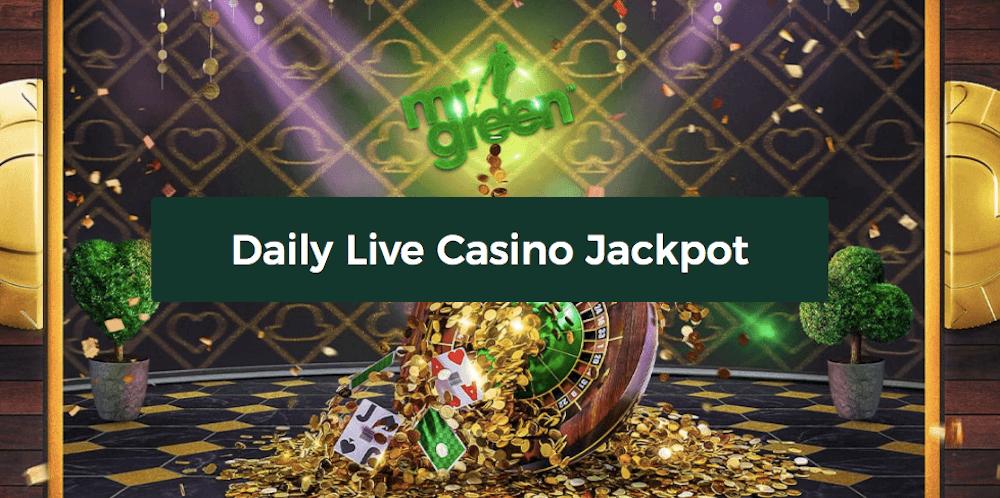 Mr Green live casino jackpot