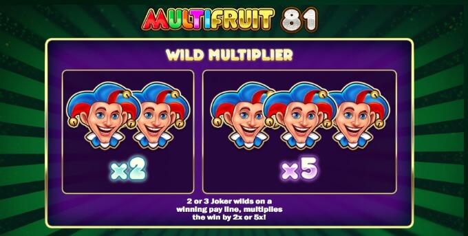 Multifruit 81 slot features