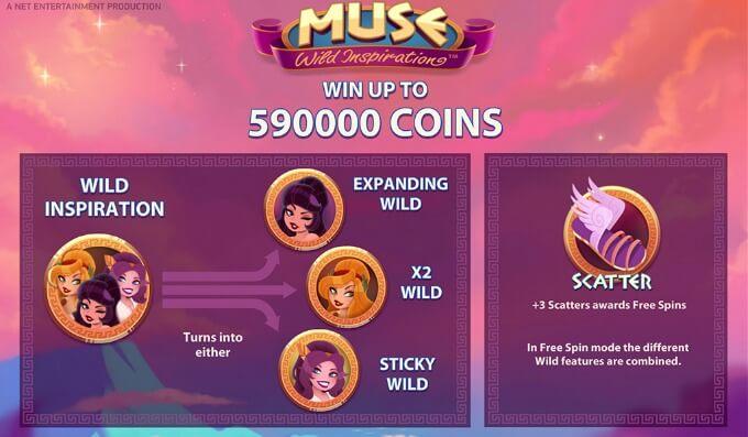 Play Muse slot at Betsafe casino