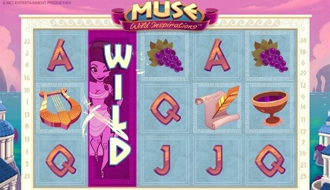 Play Muse slot at ComeOn casino