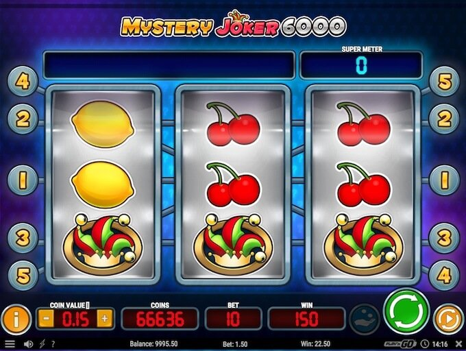 Mystery Joker 6000 slot reels