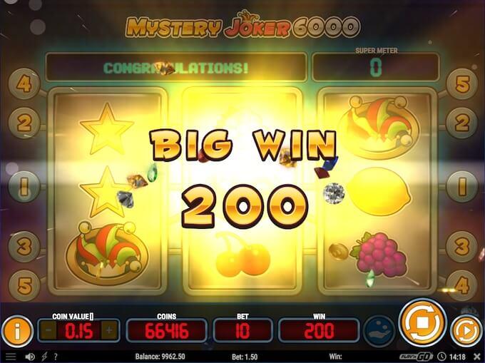 Mystery Joker 6000 slot_big win