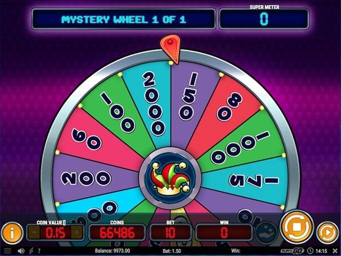 Spin the Mystery Wheel in Mystery Joker 6000 slot