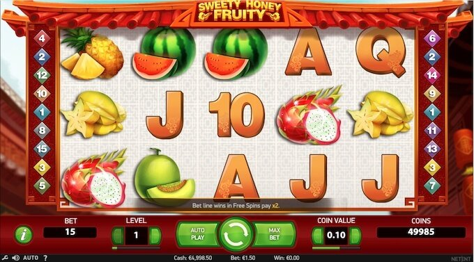Sweety Honey Fruity Slot review