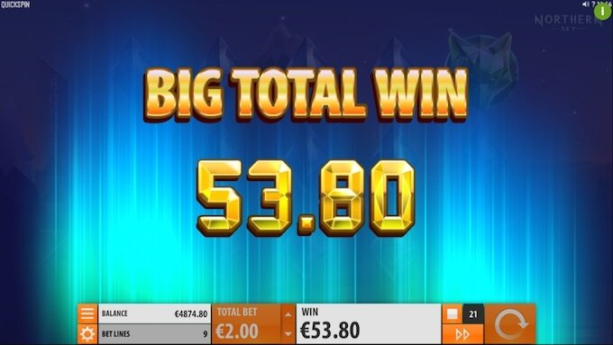 Northern Sky slot big win!