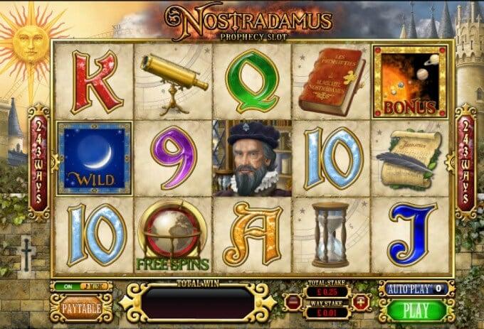Play Nostradamus slot at Bet365 casino