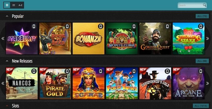 Novibet casino games