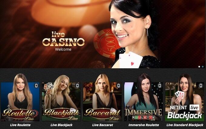 Novibet casino UK - live casino
