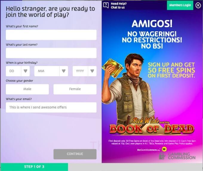 PlayOko Casino registration