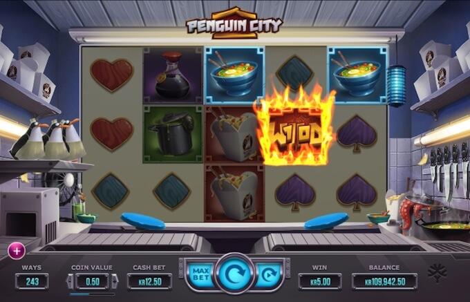 Penguin City slot escape mode