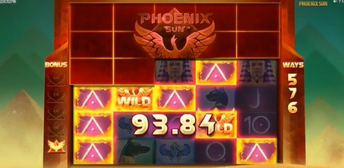 Play Phoenix Sun slot at Dunder casino