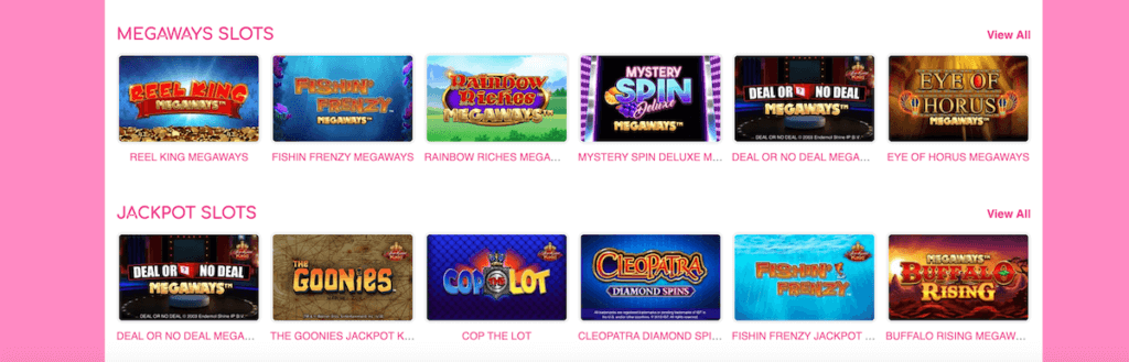Pink Casino megaways slots
