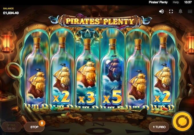 Pirates Plenty Treasure Reel feature