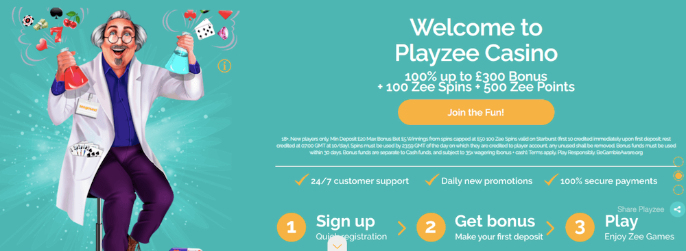 playzee casino uk bonus