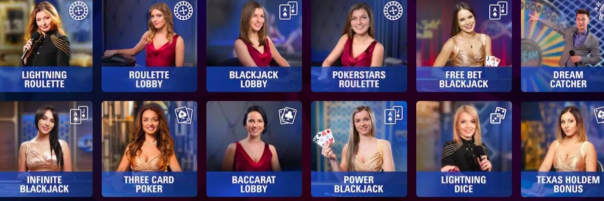 PokerStars live Casino
