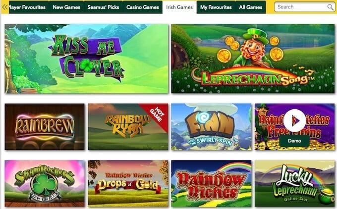 Pots of Luck casino games