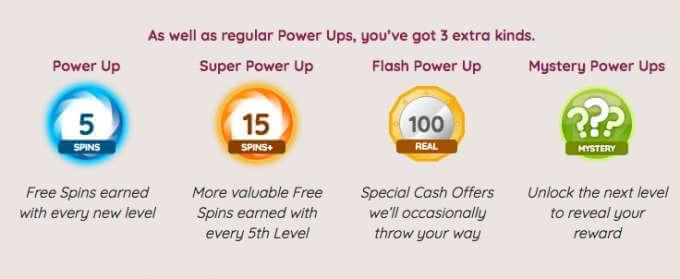Power Spins casino - player rewards