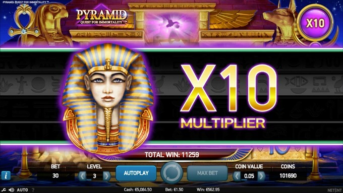 Play Pyramid Quest for Immortality slot at Maria Casino