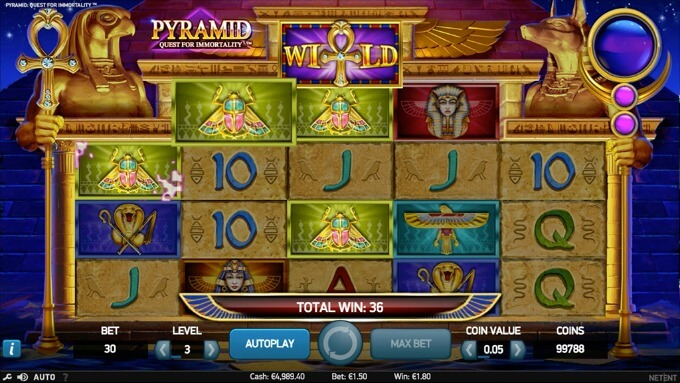 Play Pyramid Quest for Immortality slot at Dunder Casino