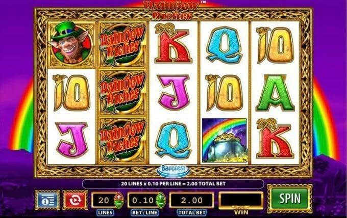 Plat Rainbow Riches slot at Mr Smith casino