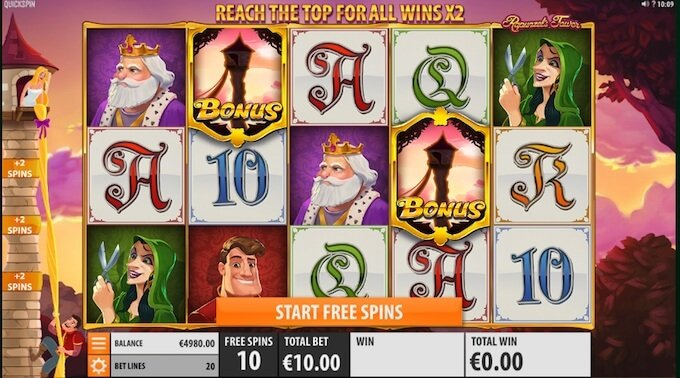 Rapunzel's Tower slot free spins