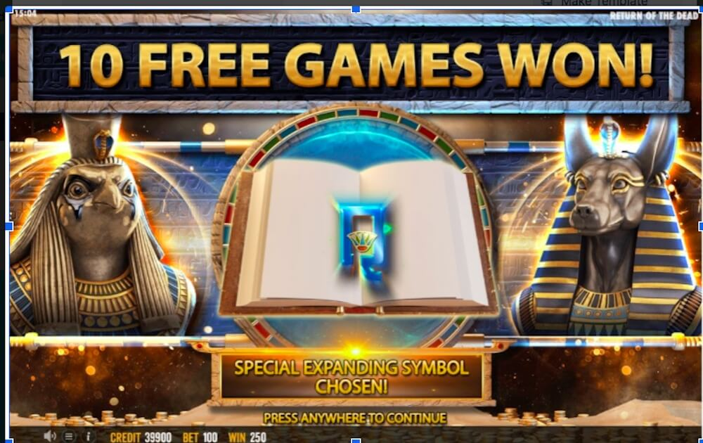 return of the dead free spins