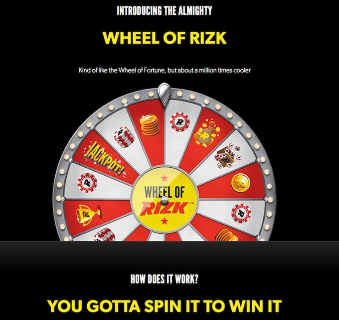 Wheel of Rizk - rizk casino uk