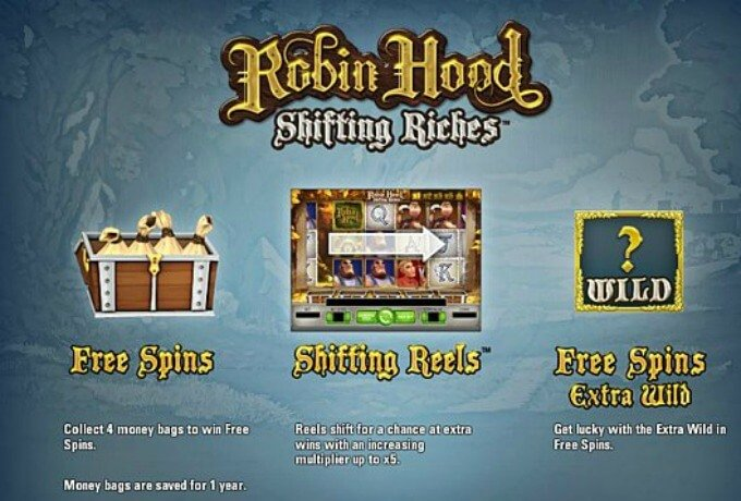 Play Robin Hood Shifting Riches slot at Dunder Casino