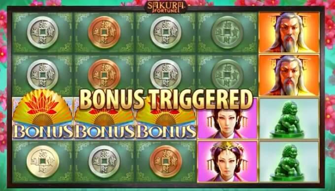 Sakura Fortune slot bonus