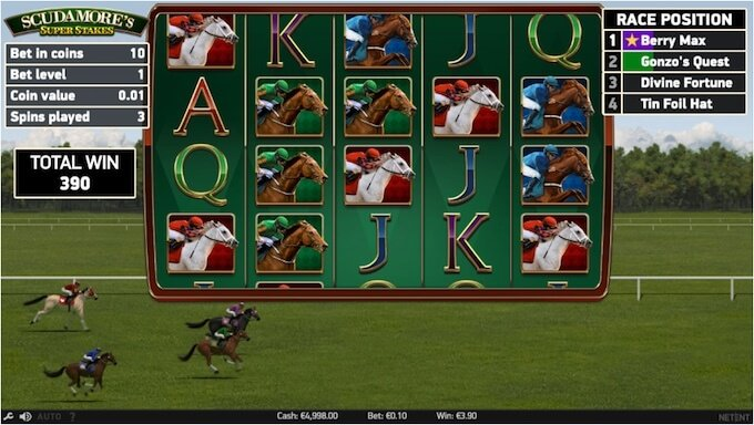Scudamores Super Stakes free spins