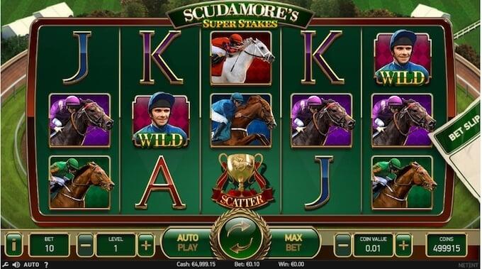 Scudamores's Super Stakes slot NetEnt