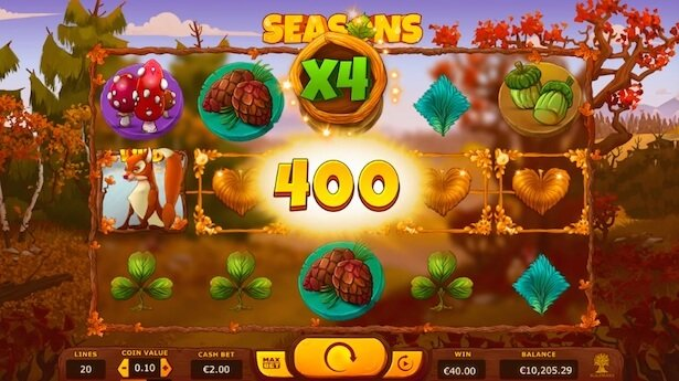 Play Seasons slot on VideoSlots casino