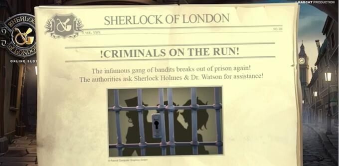 Sherlock of London slot Rabcat
