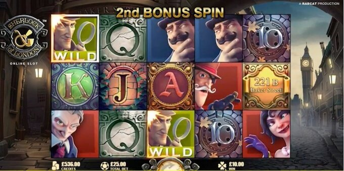 Sherlock of London slot free spins