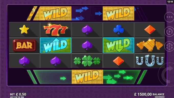 Sidewinder slot base game