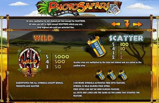 Play Photo Safari slot on CasinoCruise
