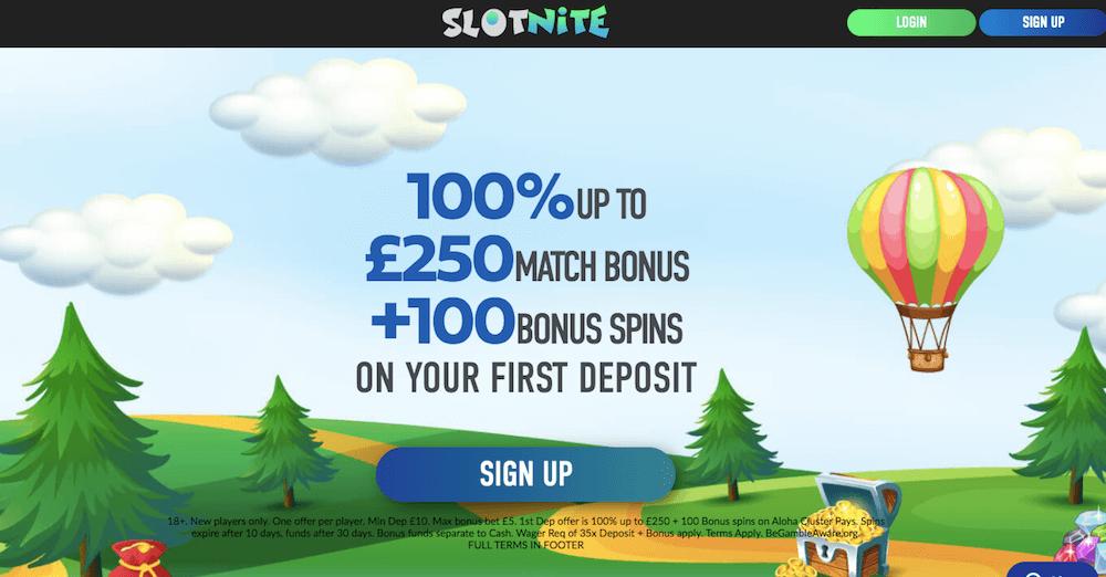 slotnite bonus uk