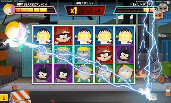 Play South Park Reel Chaos slot at Dunder Casino
