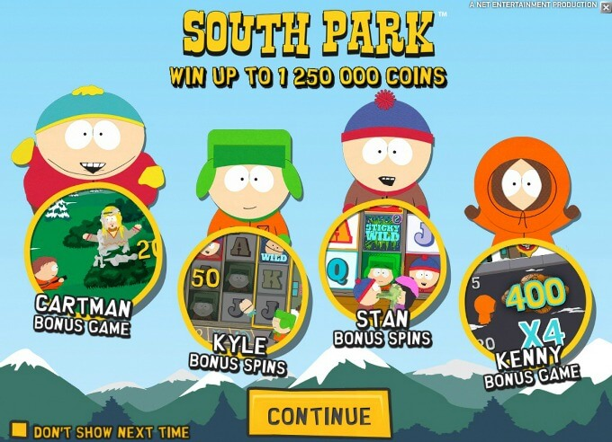 Play South Park slot at LeoVegas casino