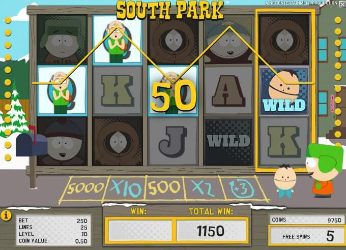 Play South Park slot at Dunder Casino