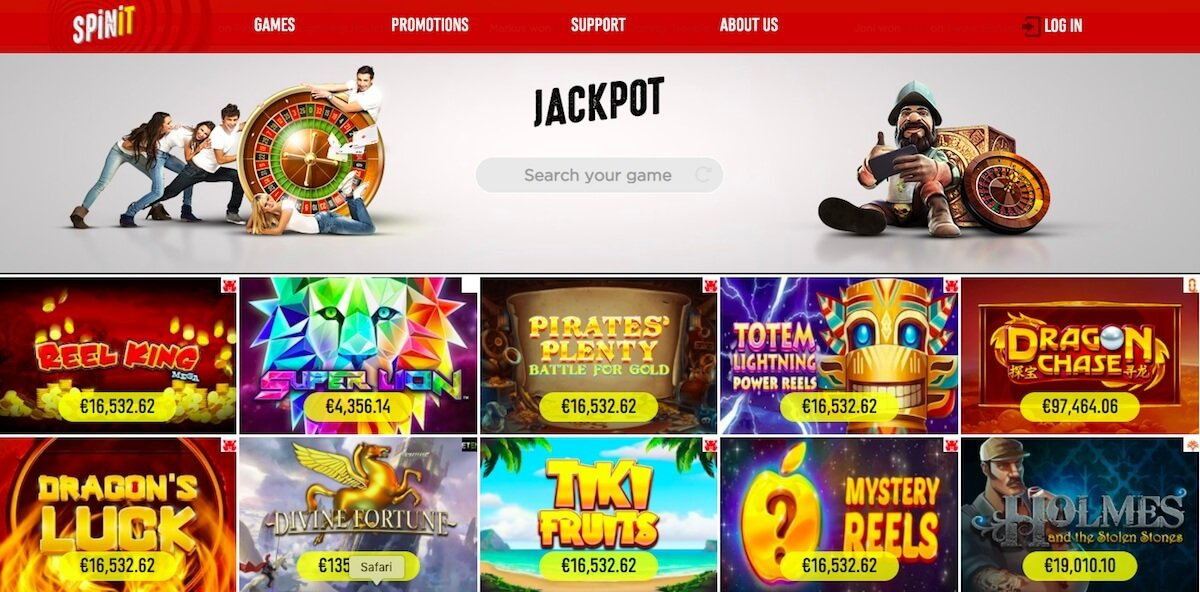 spinit jackpot games