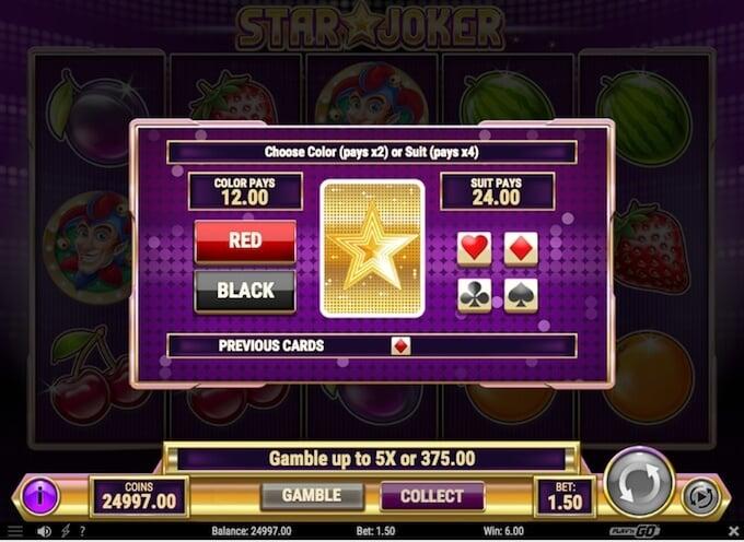 Star Joker slot gamble feature