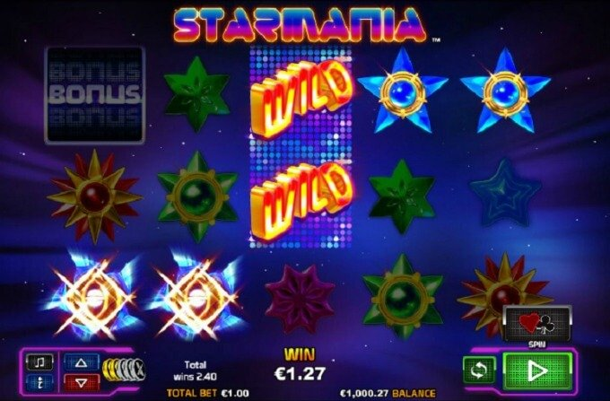 Play Starmania slot at Rizk casino