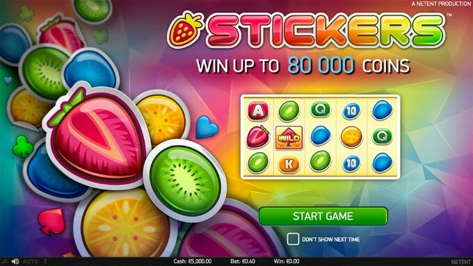 Play Stickers slot at Mr Green Casino