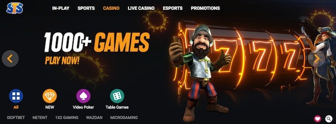 STS Bet casino games