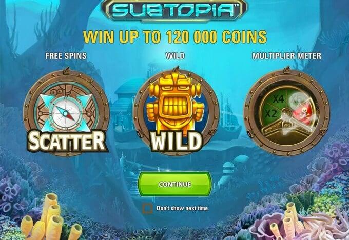 Play Subtopia slot at Maria Casino